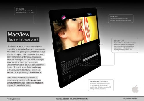 Concepto de Apple Tablet