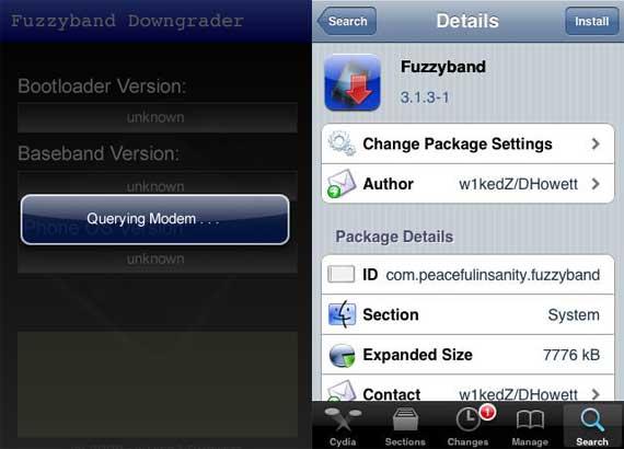 Fuzzyband permite bajar la versión del baseband del iPhone