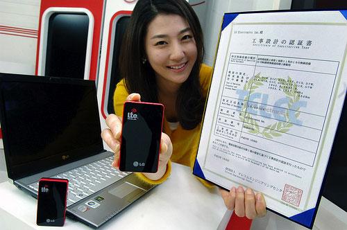 LG consigue la primera licencia de dispositivo 4G de Japón