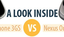 Comparativa entre el iPhone 3GS y el Google Nexus One [infografía]