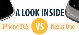 Comparativa entre el iPhone 3GS y el Google Nexus One [infografía]