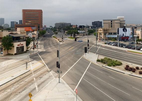 EmptyLA, Los Ángeles sin gente ni coches