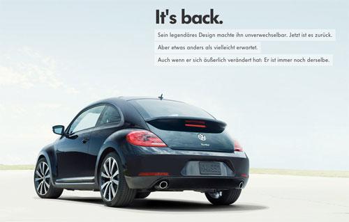 Impresionante y original web de Volkswagen