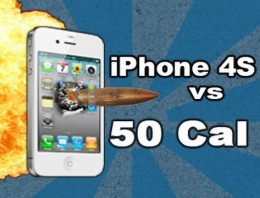iPhone 4S disparado con un fusil a cámara lenta [video]