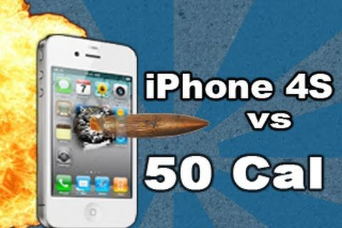 iPhone 4S disparado con un fusil a cámara lenta [video]