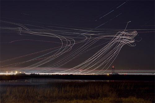 Impresionantes fotografías de larga exposición de Aviones