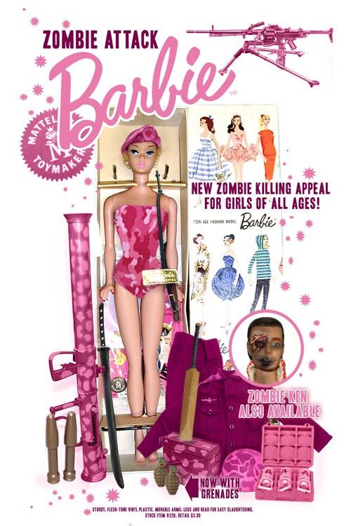 Barbie matazombis, con zombi de Ken a juego [WTF]