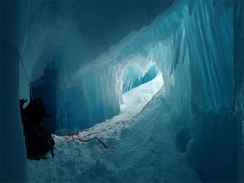 Así es una cueva de hielo