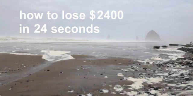 Cómo perder 3230€ en 24 segundos