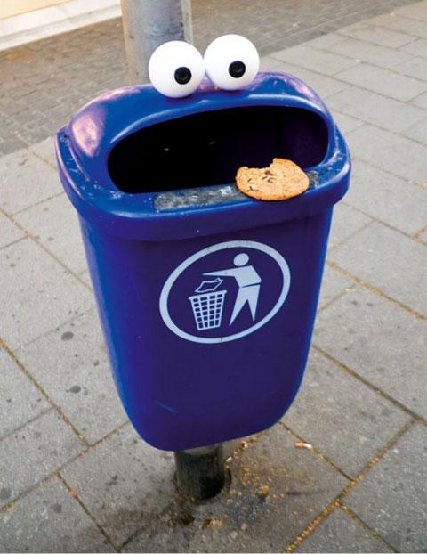 Papelera Monstruo de las galletas