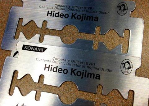 Éstas son las tarjetas de visita de Hideo Kojima