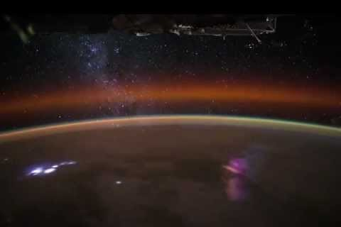 Tormentas sobre África desde la ISS