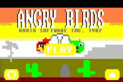 Angry Birds 8 bit en los años 80