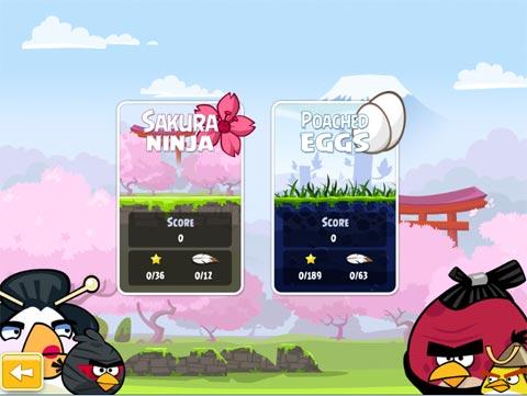 Angry Birds ambientado en Japón, gratis