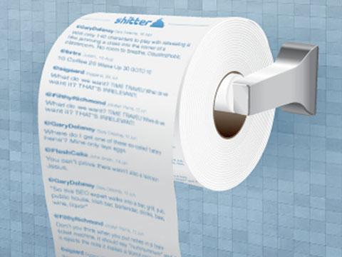 Papel higiénico con tu timeline de Twitter