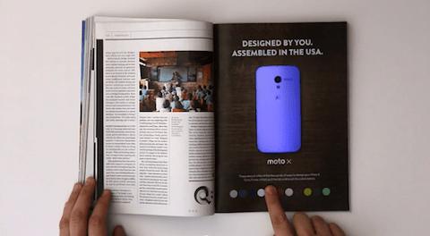 Un anuncio impreso que también es interactivo