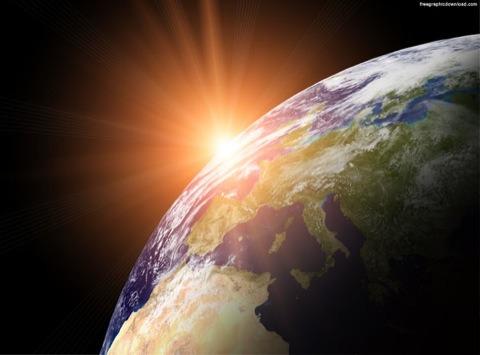 Resultado de imagen de Imagen de la Tierra girando al revés