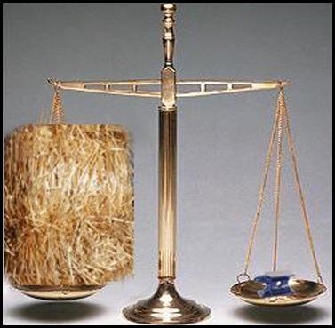 Leyendas Urbanas II: ¿Qué pesa más, un kilo de paja o un kilo de plomo?