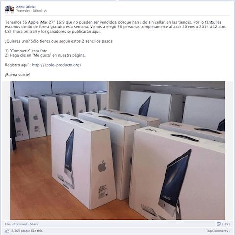 """Un iMac por compartir y darle a """"Me gusta"""""""