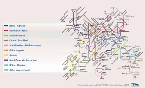 Si todo Europa fuera una sola ciudad, éste sería su mapa de Metro
