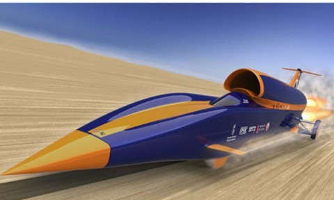 Un coche supersónico intentará alcanzar los 1.287 km/h