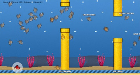 Flappy Bird multijugador masivo online: FlapMMO