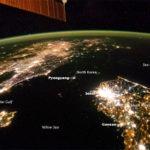 Vista de Corea desde el Espacio