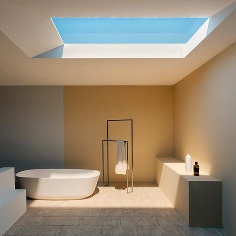 Coelux: Luz solar en una habitación sin ventanas