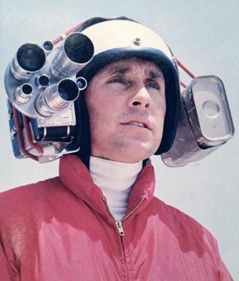 Cámara de vídeo montada en la cabeza