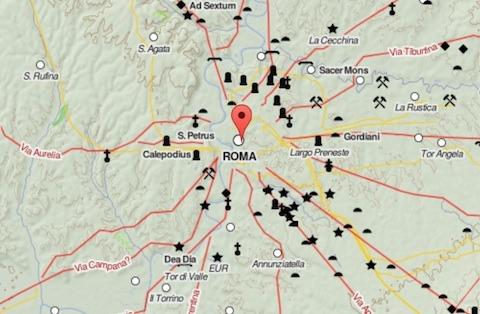 Mapa del imperio romano al más puro estilo Google Maps