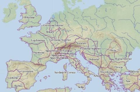 Imperio romano google maps