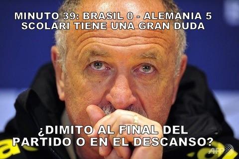 Brasil 0 – Alemania 5: Scolari tiene una duda