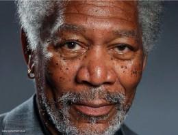 Esta increíble foto de Morgan Freeman es en realidad un dibujo hecho a mano en un iPad