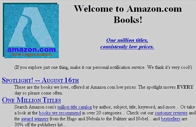 Amazon primera web 1994