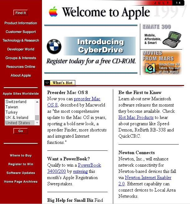 Apple primera web 1996