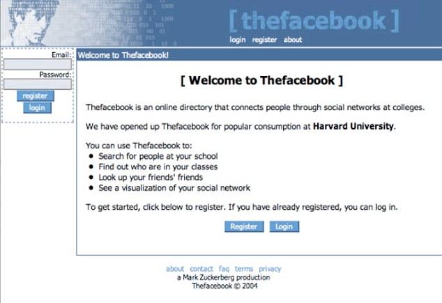 Facebook primera web historia 2006