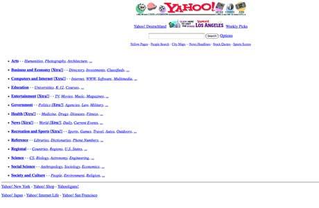 Yahoo primera web 1994