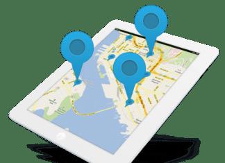 iPad con un mapa