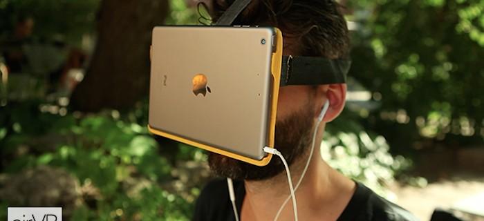 AirVR: Realidad virtual ¡¡con un iPad en tu cara!!