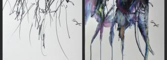 6 impresionantes cuadros basados en los dibujos de su hija de 2 años