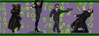 Matrix contado con gráficos 8 bit