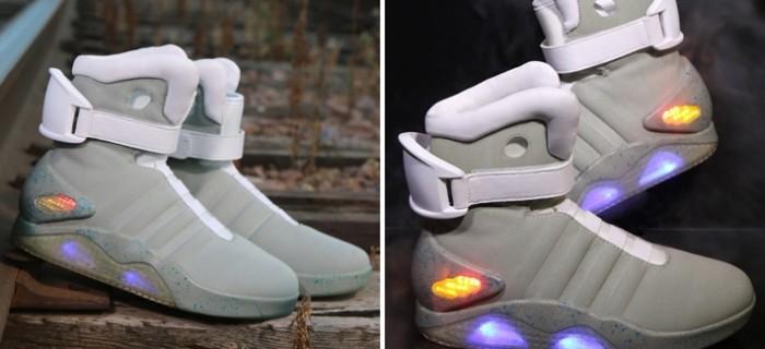 Por fin las zapatillas de Regreso al Futuro II