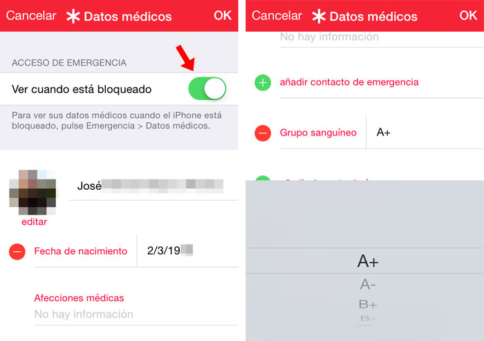 Datos médicos