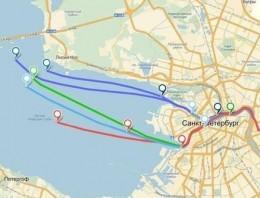 Este es el camino que siguieron cinco unidades GPS tiradas al retrete en San Petersburgo