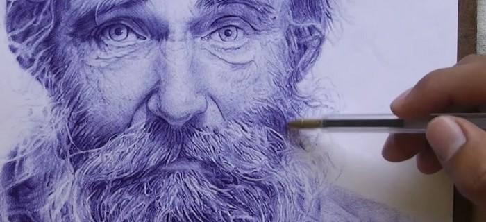 6 dibujos super realistas hechos sólo con bolígrafo [pen drawing]