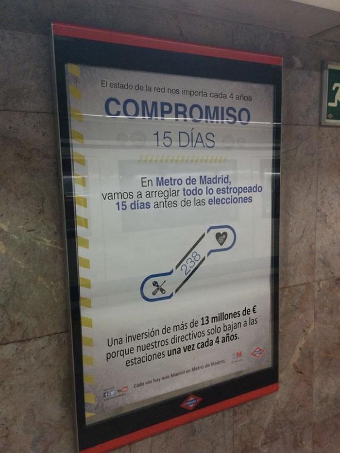 El (falso) compromiso de 15 días del Metro de Madrid