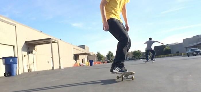 Espectacular skateboarding a cámara lenta grabada con un iPhone