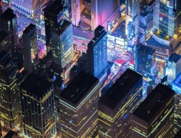 Impresionantes fotos nocturnas de Nueva York desde 2200 metros de altura