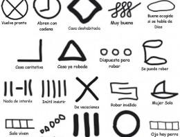 Estas son las marcas utilizadas por los ladrones para el robo de viviendas