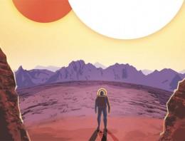 Espectaculares pósters vintage de otros mundos, de la mano de la Nasa